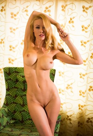 Ravishing blonde Eager mom with amazing tits begins solo strip show in living room