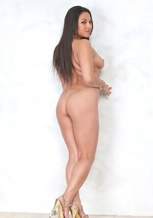 Latina admire can't wait to get rid of pink dress and plus stay nude before camera